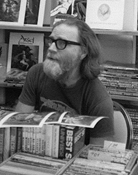 Rusty Hevelin at a SF convention in the 1970s